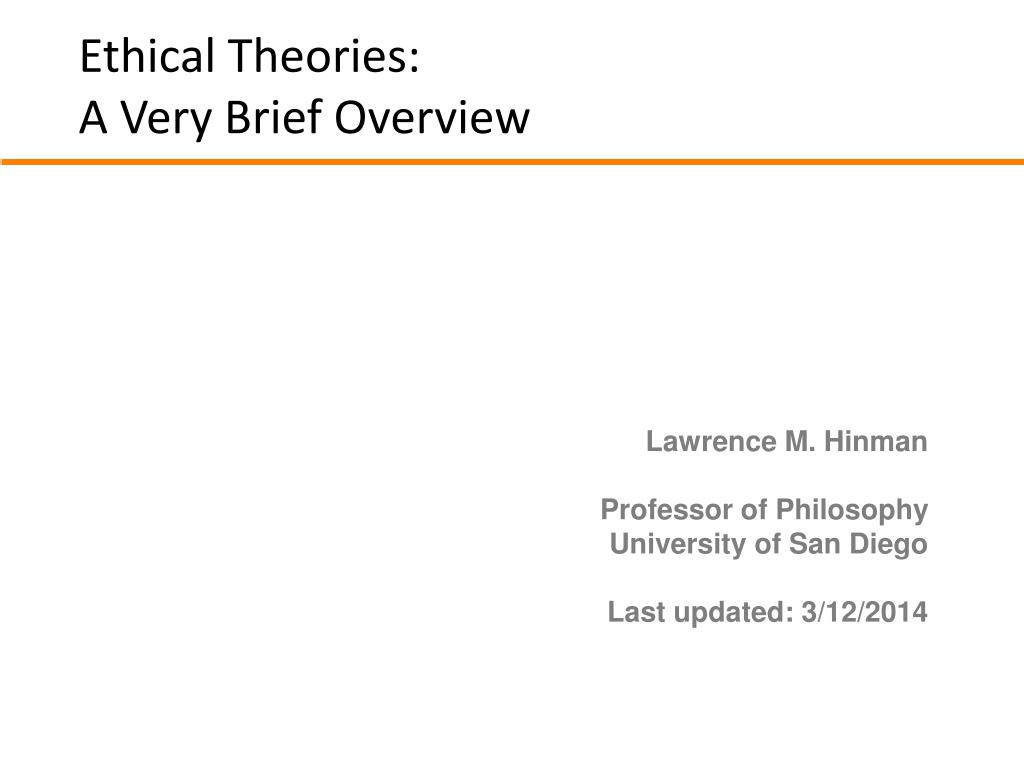ethical theories a very brief overview l.