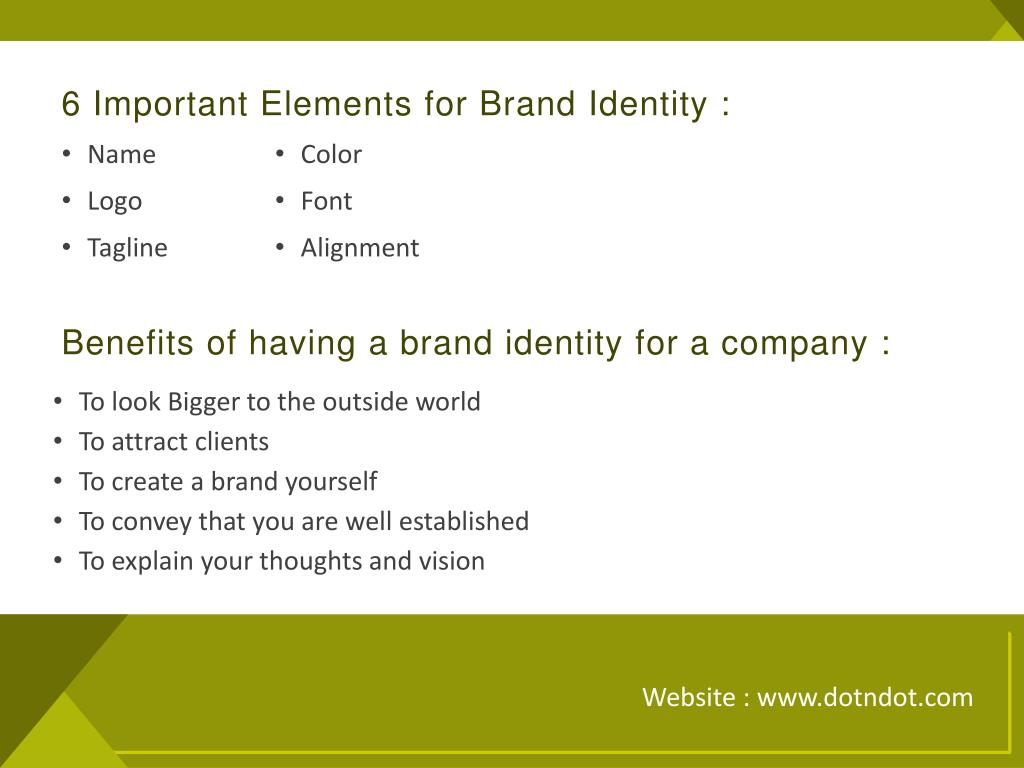 6 Important Elements for Brand Identity :