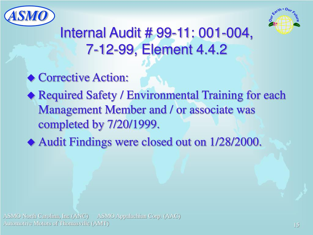 Internal Audit # 99-11: 001-004,