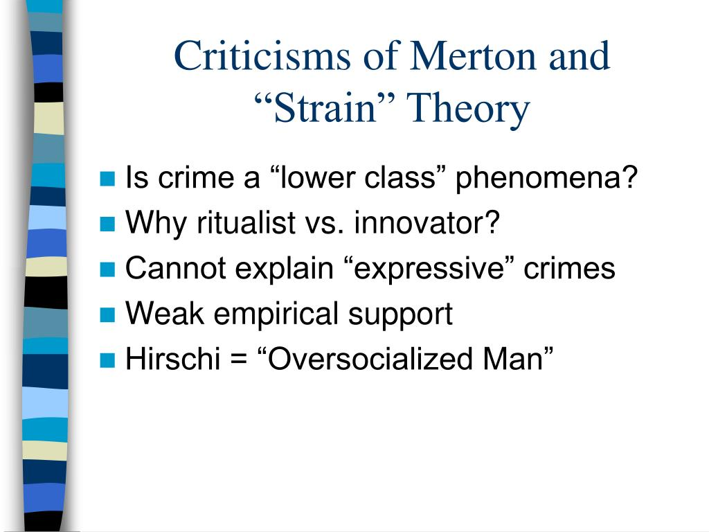 learning theory versus strain theory essay Explaining criminals and crime : essays in contemporary criminological theory an overview of general strain theory robert social learning theory ronald l.