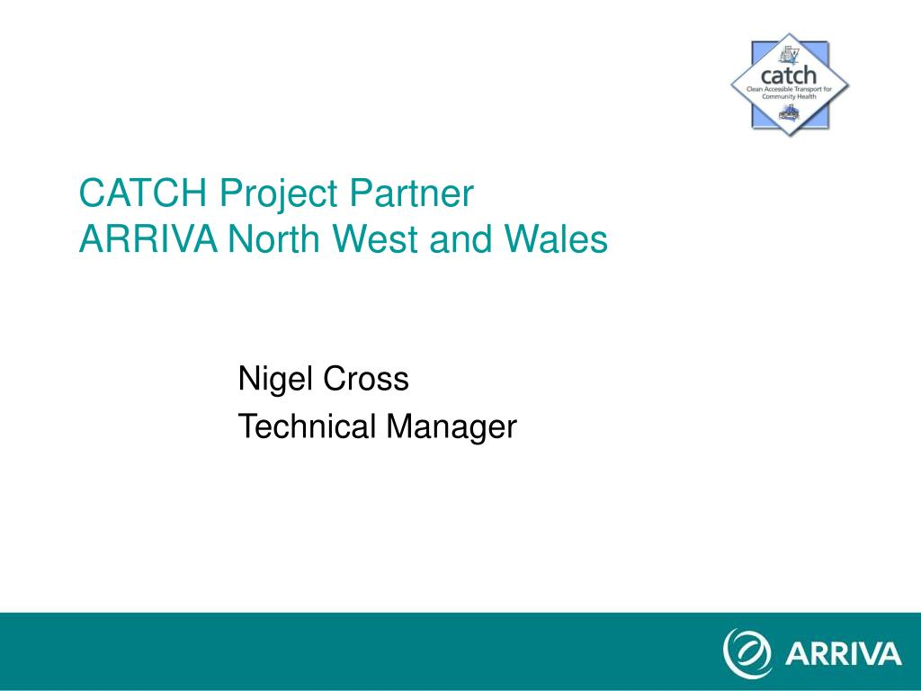 catch project partner arriva north west and wales