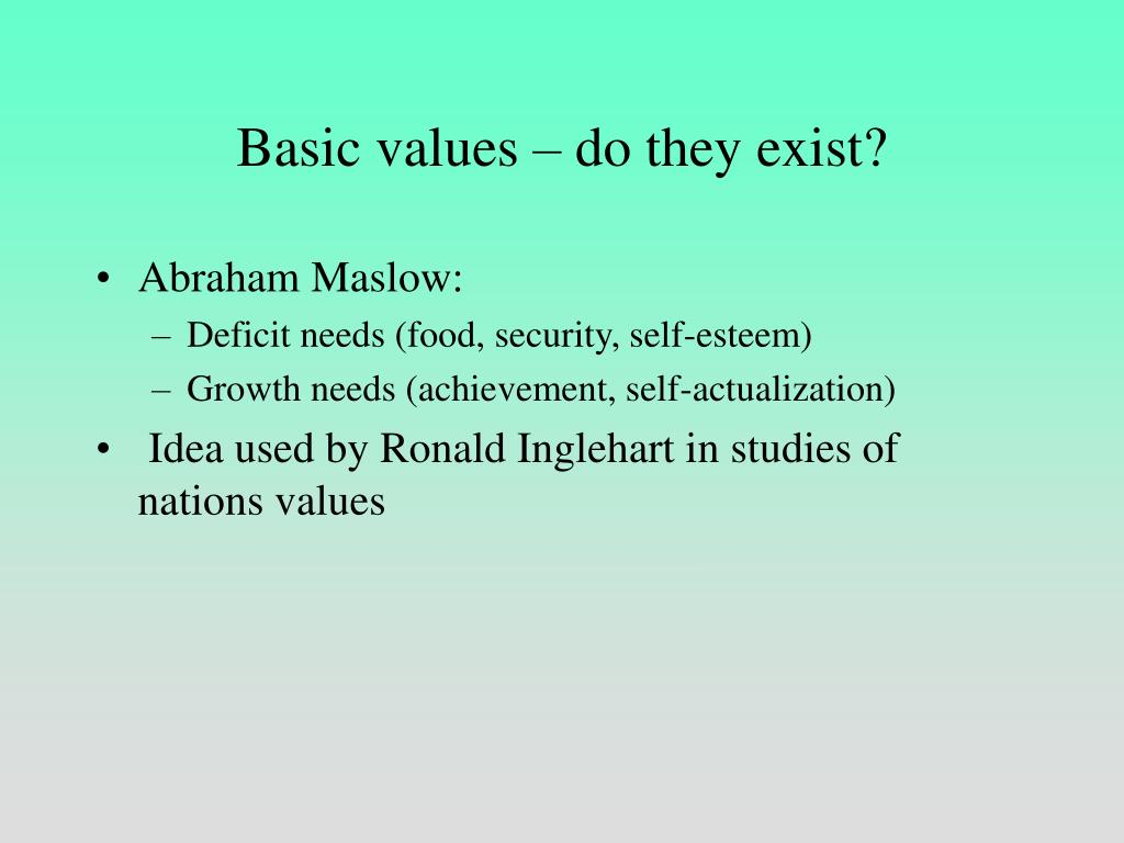 Basic values – do they exist?