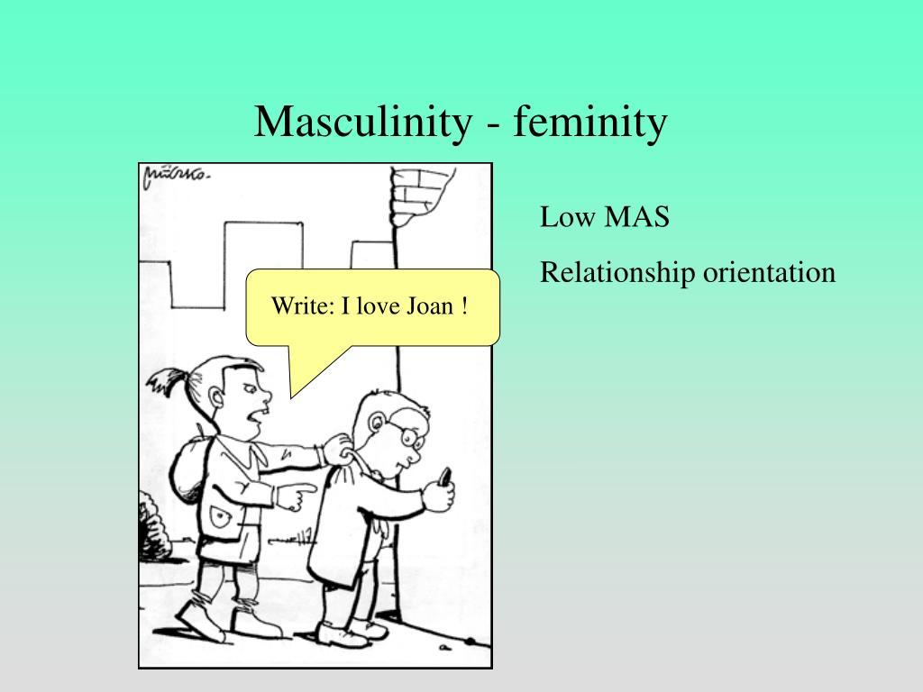 Masculinity - feminity