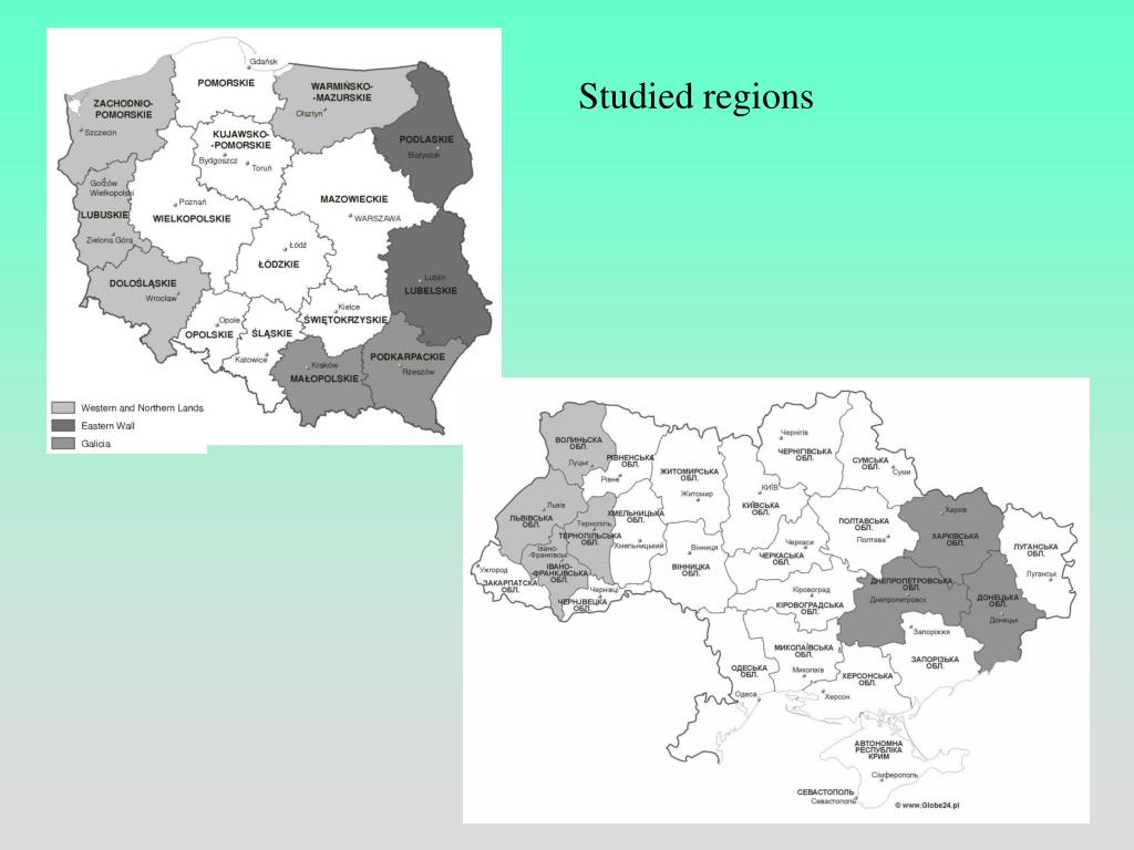 Studied regions