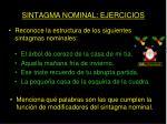 sintagma nominal ejercicios