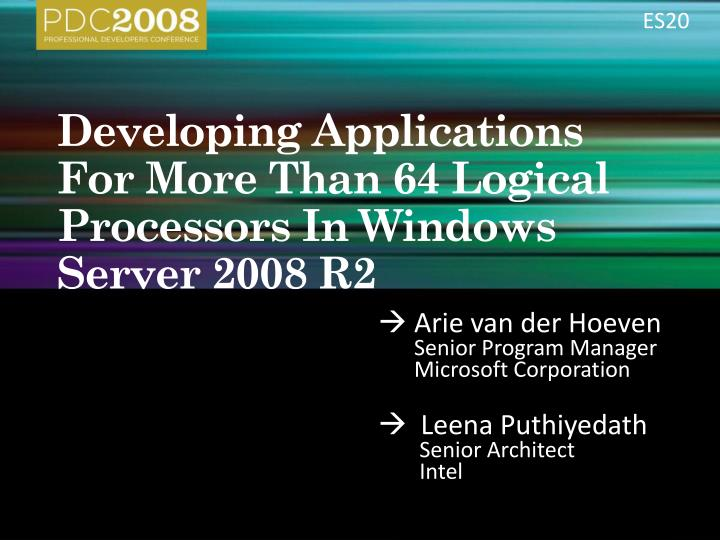 developing applications for more than 64 logical processors in windows server 2008 r2 n.