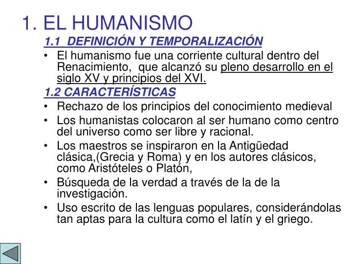 1 el humanismo