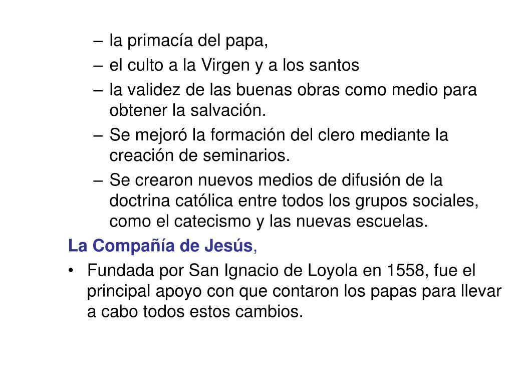 la primacía del papa,