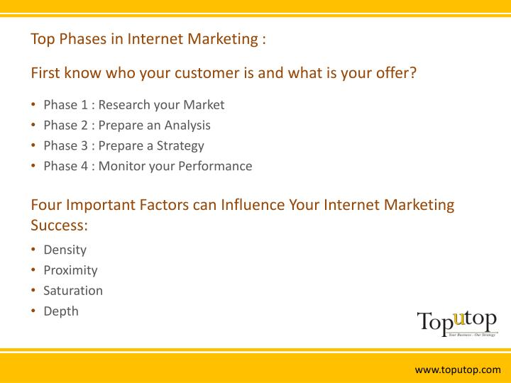 Top phases in internet marketing