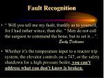 fault recognition