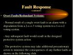 fault response continued