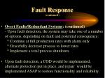 fault response continued19