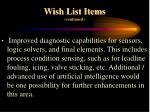 wish list items continued