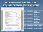 accounting for delayed equalization aid payment