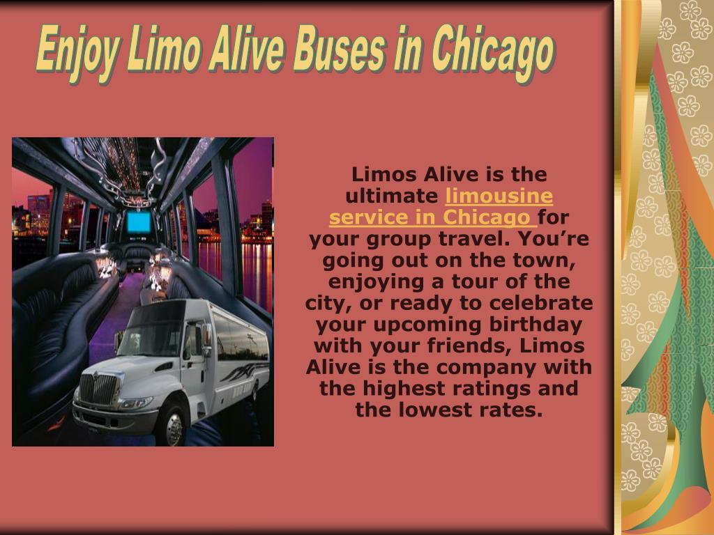Enjoy Limo Alive Buses in Chicago