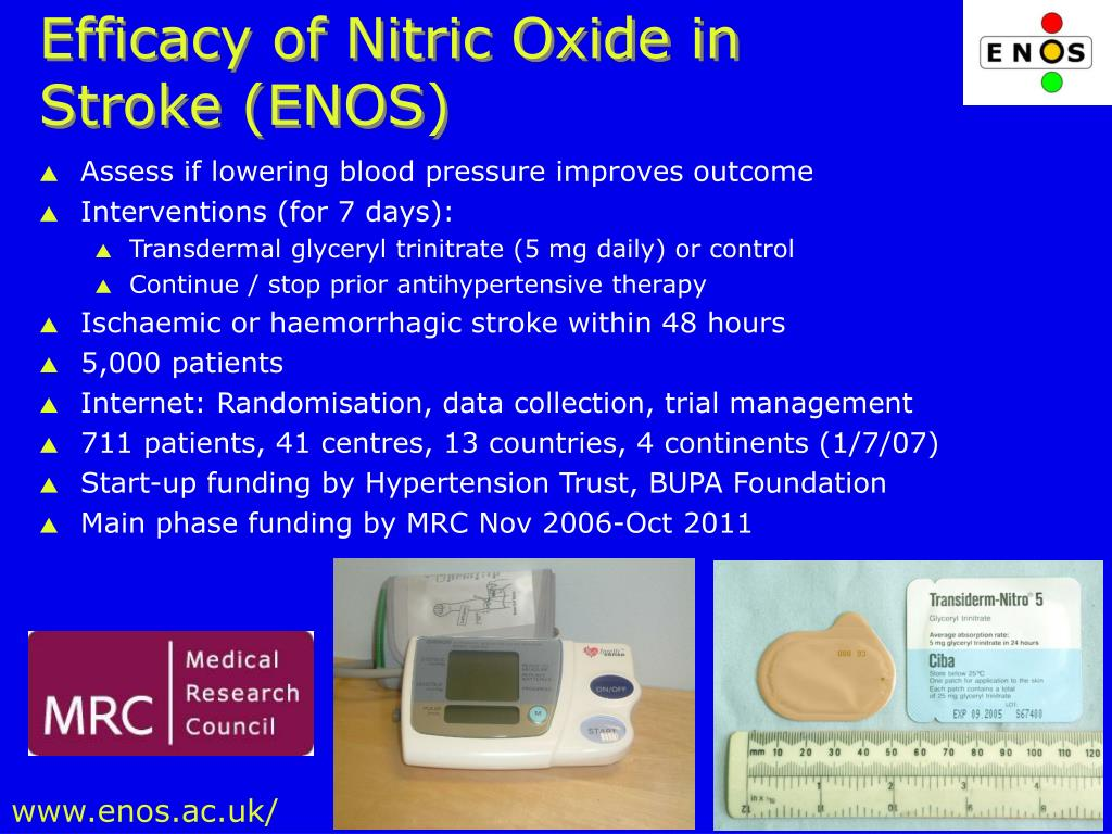 Efficacy of Nitric Oxide in