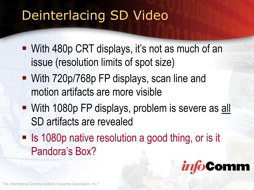 Deinterlacing SD Video