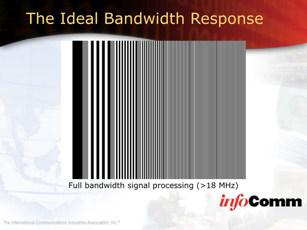 The Ideal Bandwidth Response