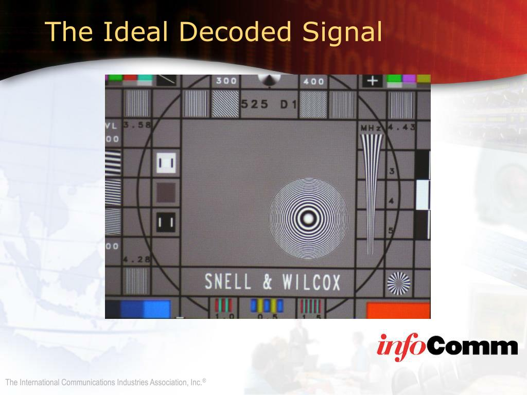 The Ideal Decoded Signal
