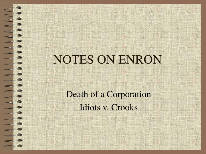 organization description enron corporation an american Enron corporation was an american energy, commodities and services company based in houston, texas in 2001, they filed for bankruptcy before their december 2, 2001.