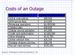 costs of an outage