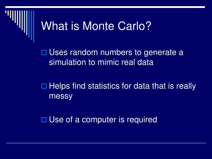 What is monte carlo