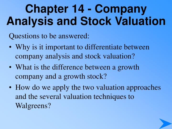 chapter 14 company analysis and stock valuation n.