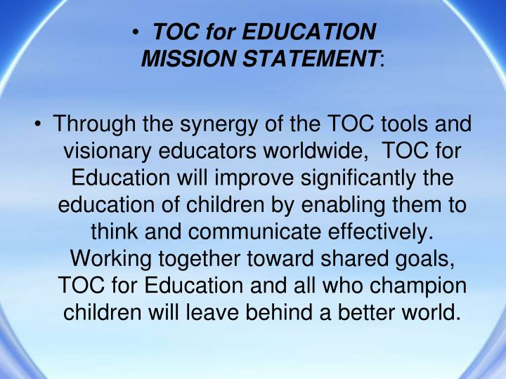 educational mission statement 04102018 to prepare and develop the finest leaders in the educational institutions of tomorrow to prepare and develop the finest researchers, policy analysts, and.