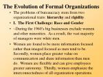 the evolution of formal organizations