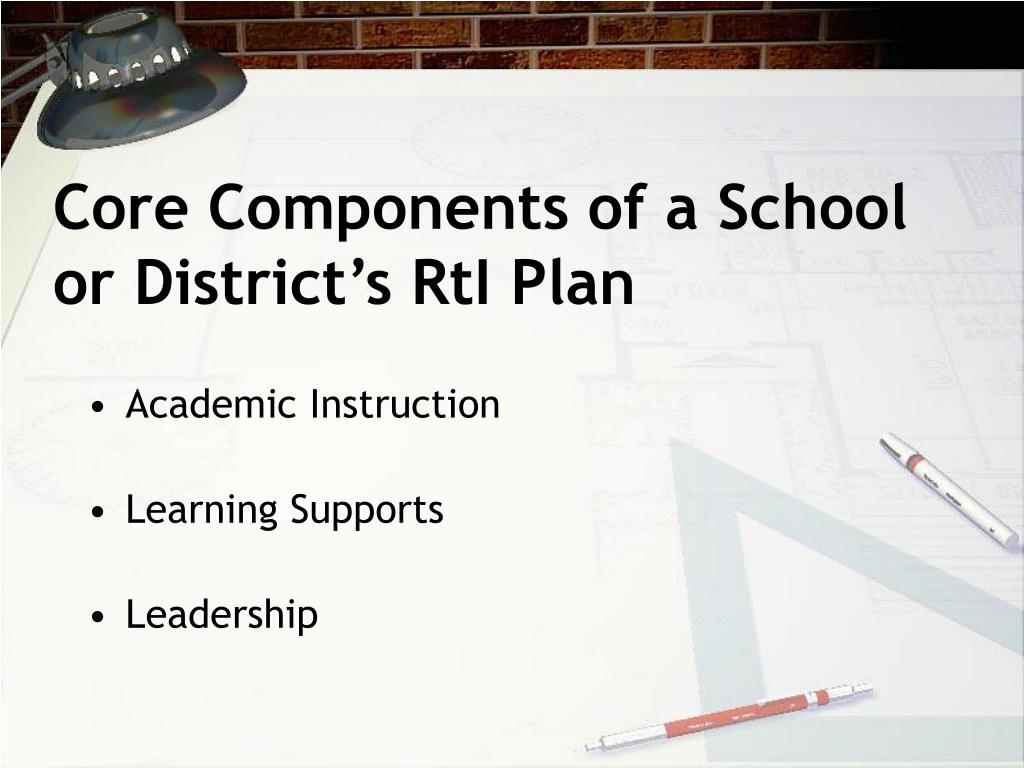 Core Components of a School or District's RtI Plan