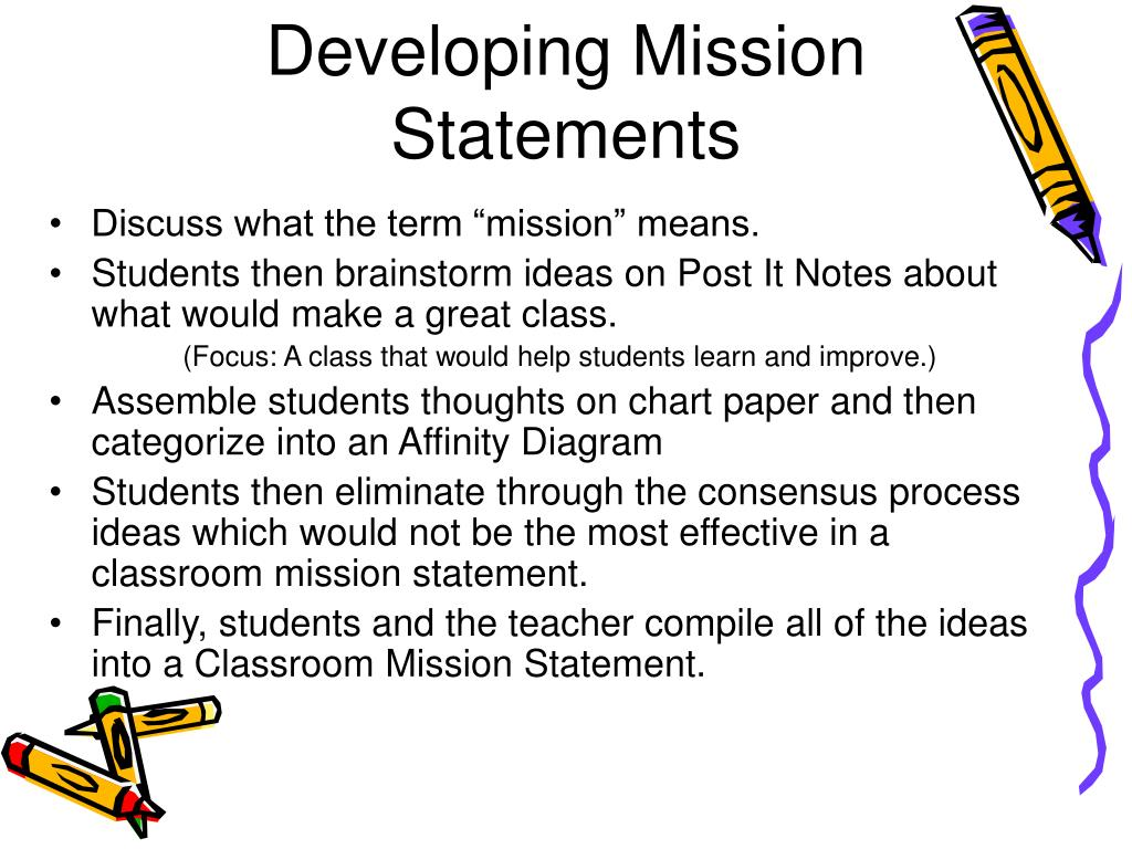 Developing Mission Statements