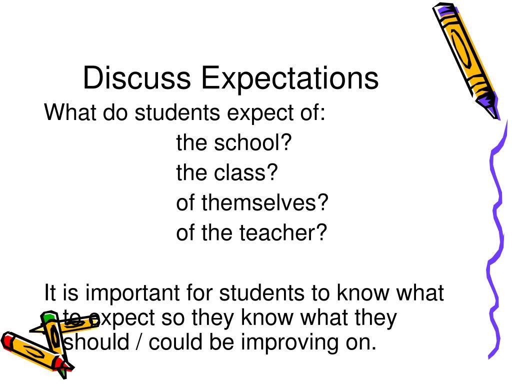 Discuss Expectations