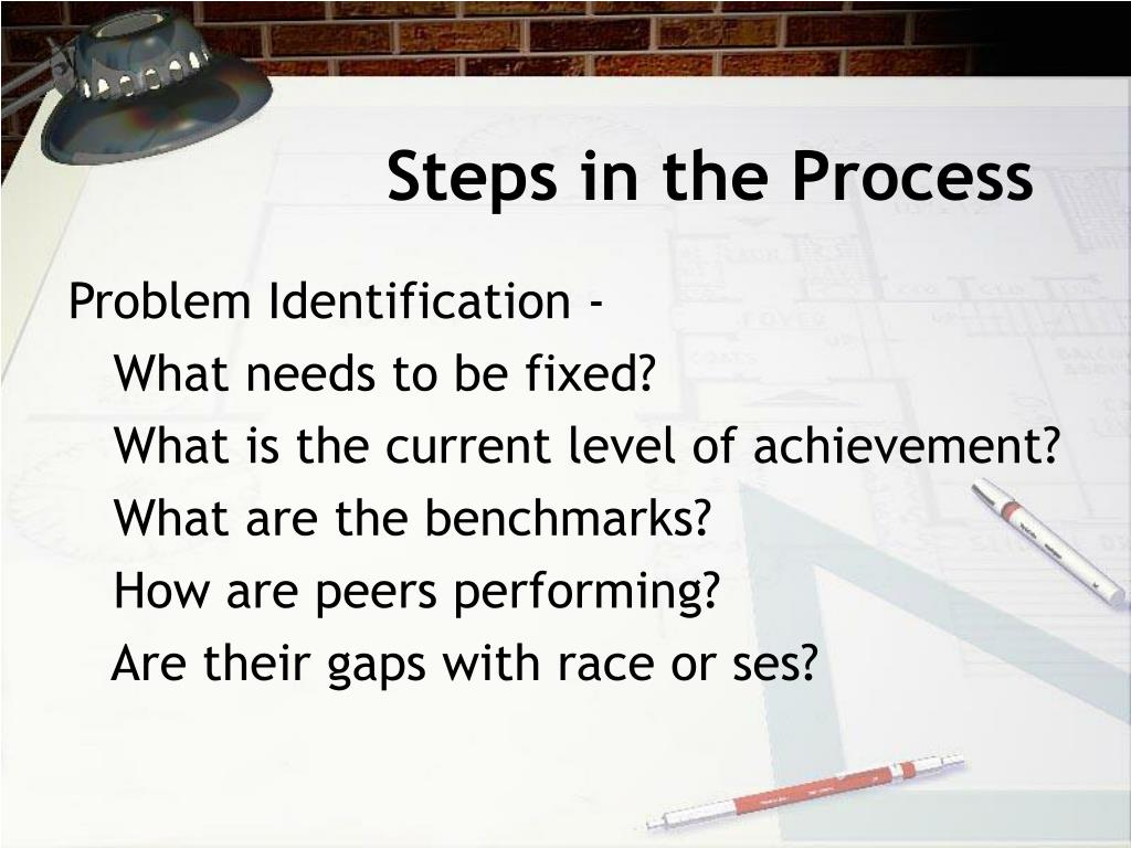 Steps in the Process
