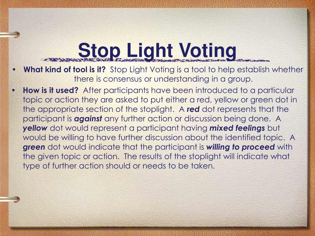 Stop Light Voting