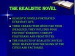 the realistic novel