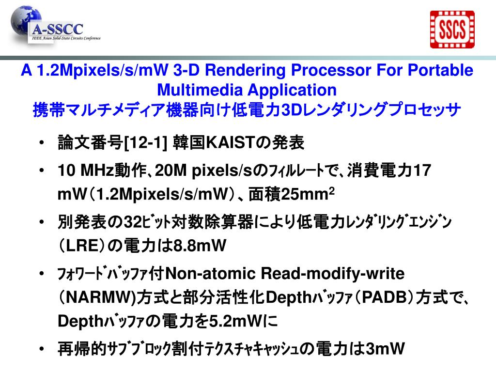 A 1.2Mpixels/s/mW 3-D Rendering Processor For Portable Multimedia Application
