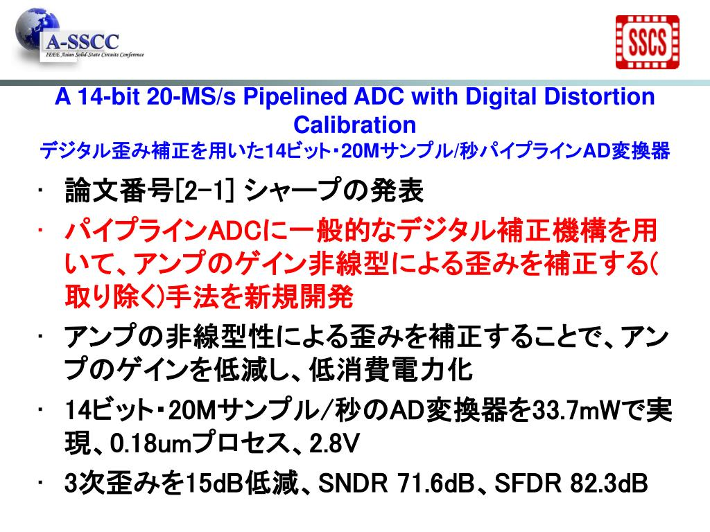 A 14-bit 20-MS/s Pipelined ADC with Digital Distortion Calibration