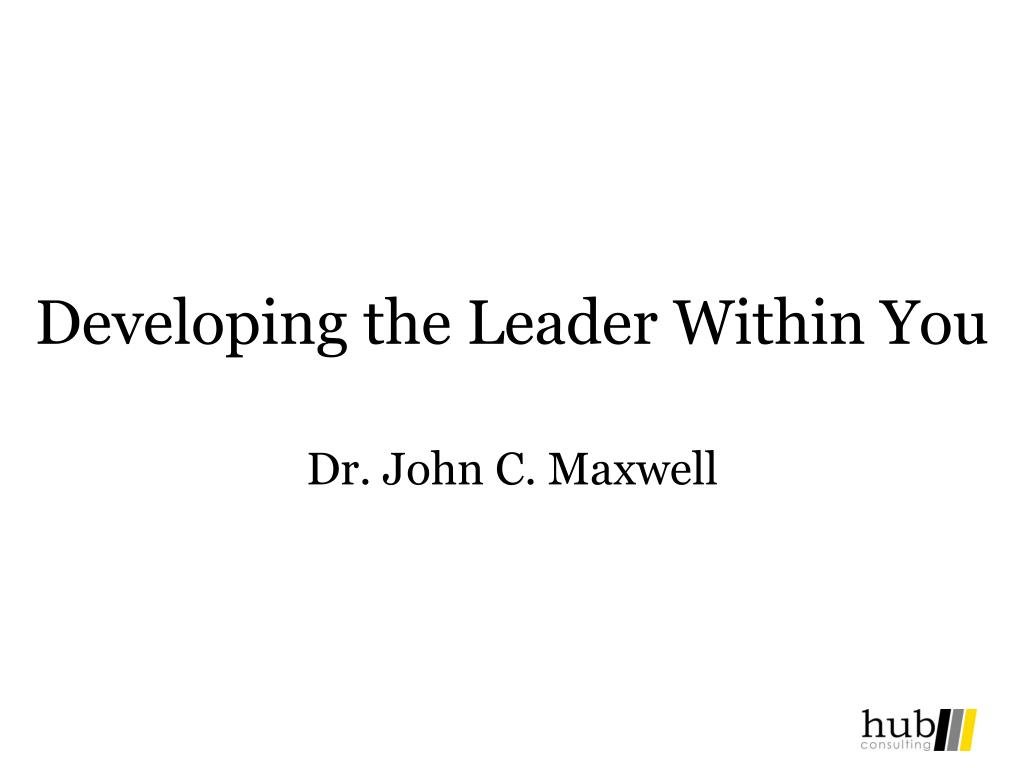 developing the leader within you l. Download