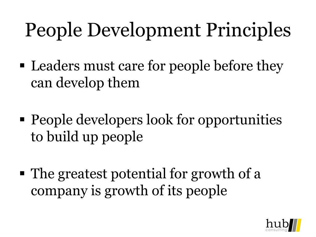 People Development Principles