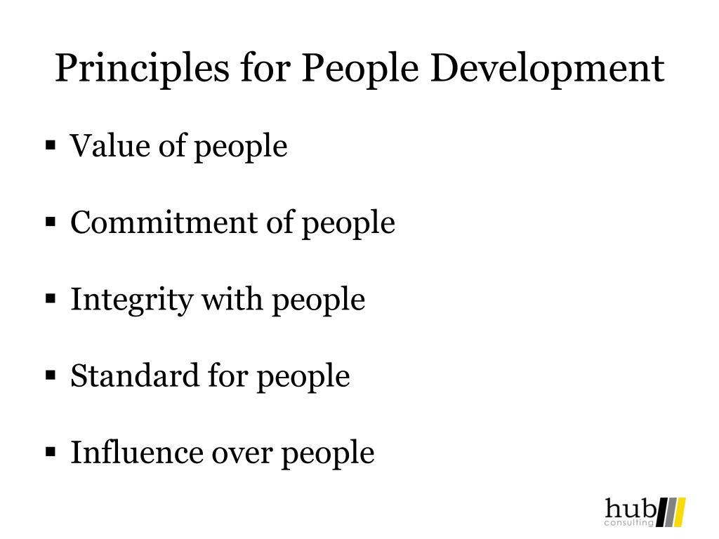 Principles for People Development
