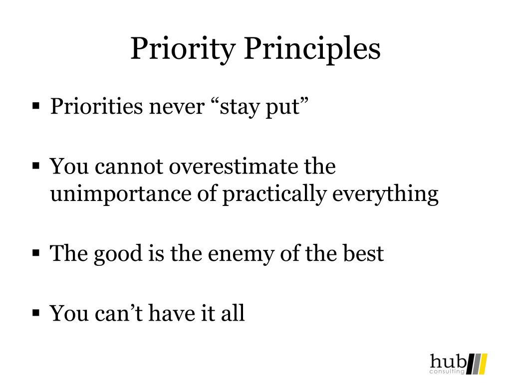 Priority Principles