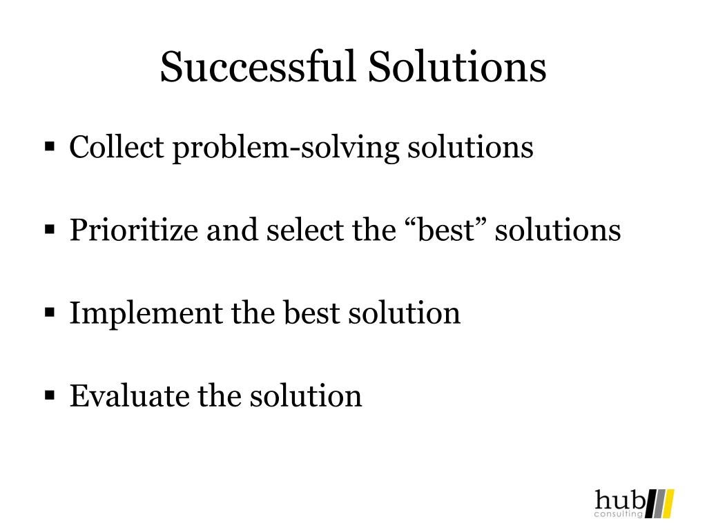 Successful Solutions
