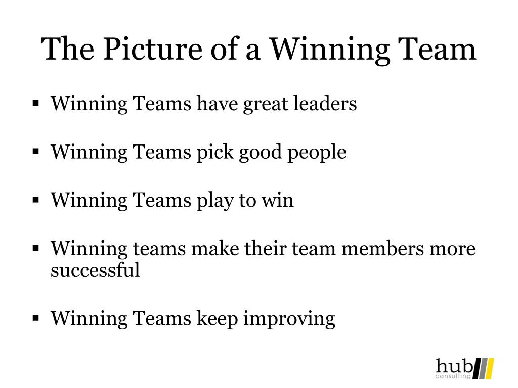 The Picture of a Winning Team