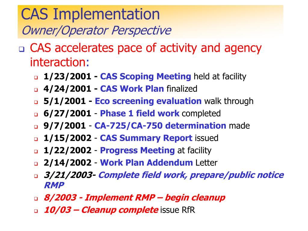 CAS Implementation