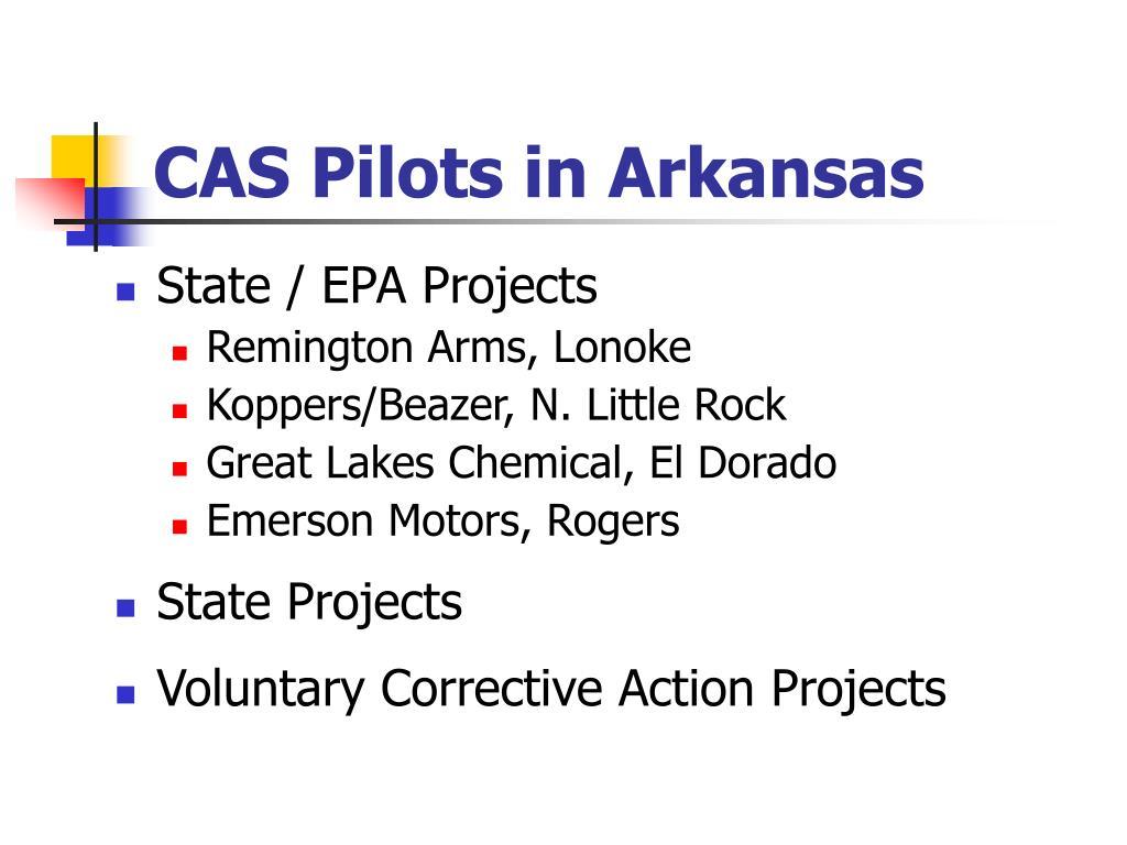 CAS Pilots in Arkansas