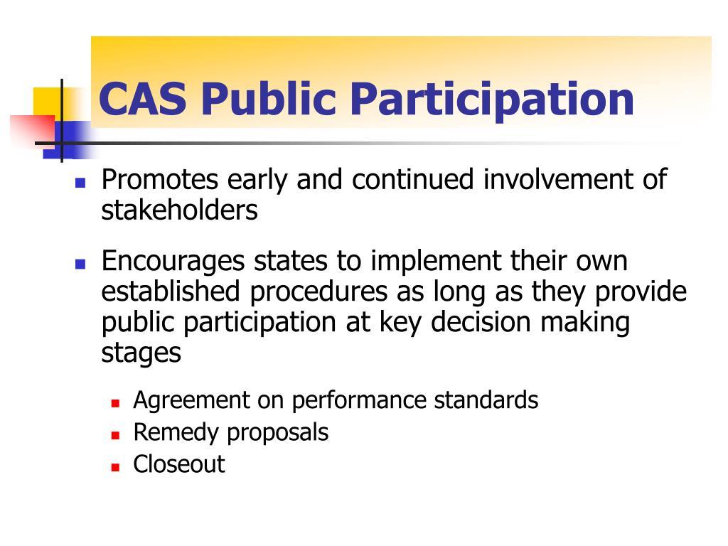 CAS Public Participation