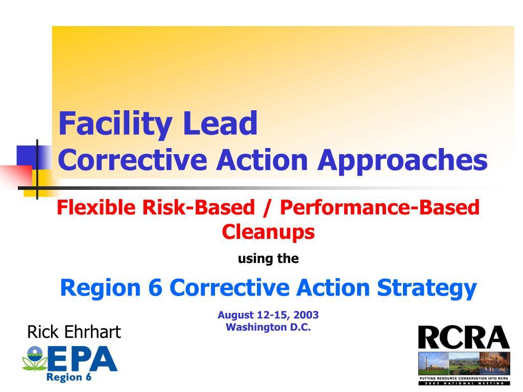 Facility Lead