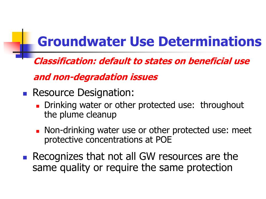 Groundwater Use Determinations