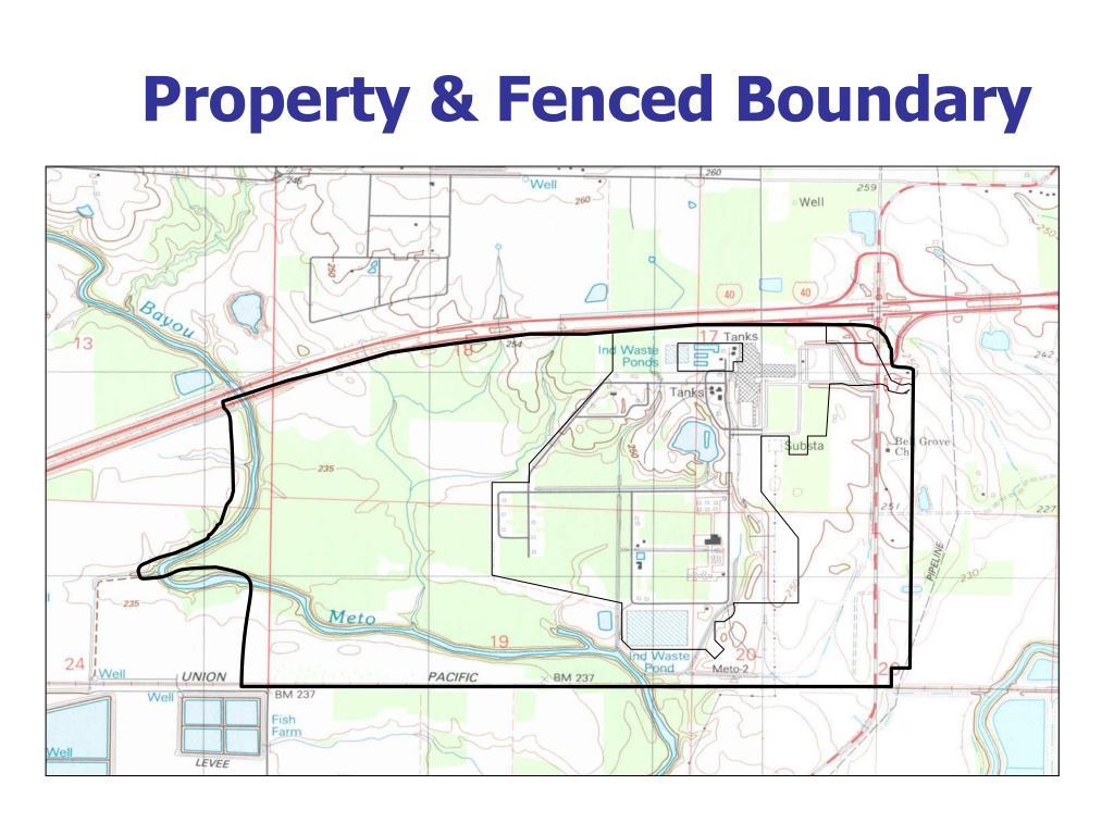 Property & Fenced Boundary