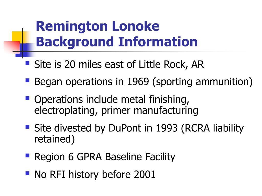 Remington Lonoke